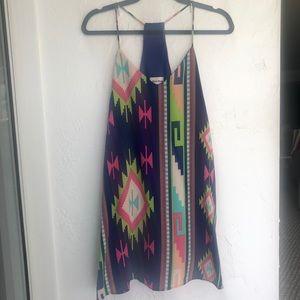 Style rack geometric print racerback dress small
